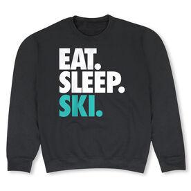 Skiing Crew Neck Sweatshirt - Eat Sleep Ski