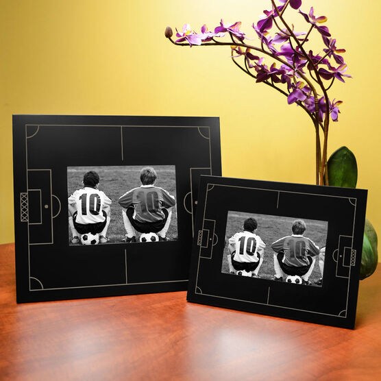 Soccer Engraved Picture Frame - Field