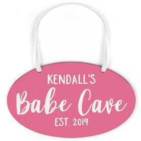 Oval Sign - Personalized Babe Cave