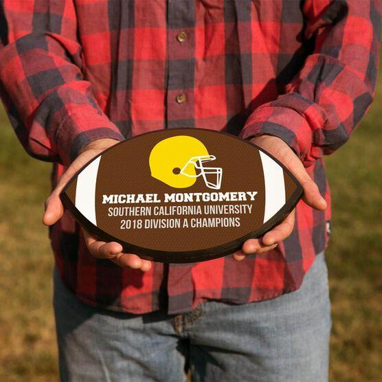 Football Plaque - Team Helmet