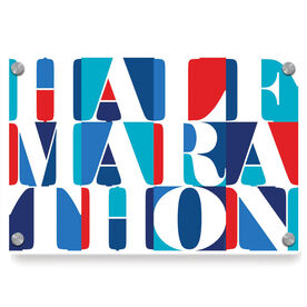 Running Metal Wall Art Panel - Half Marathon Mosaic