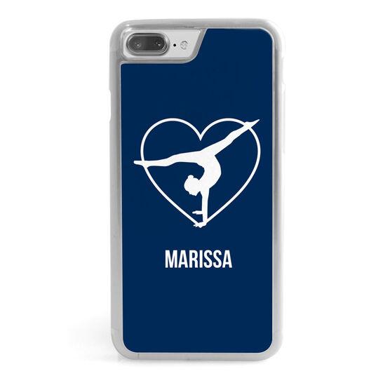 Gymnastics iPhone® Case - Personalized Heart Gymnast