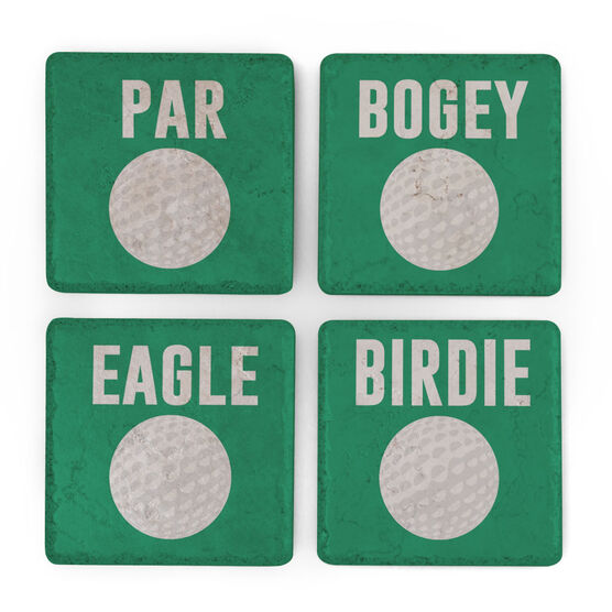 Golf Stone Coasters Set of Four - Lingo