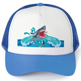 Guys Lacrosse Trucker Hat Shark Chomp