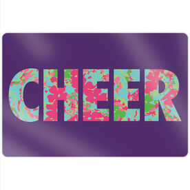 "Cheerleading 18"" X 12"" Aluminum Room Sign - Floral Cheer"