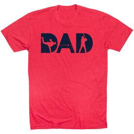 Baseball T-Shirt Short Sleeve - Baseball Dad Silhouette