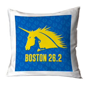 Running Decorative Pillow - Run with Unicorns