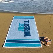 Wrestling Premium Beach Towel - Just Wrestle