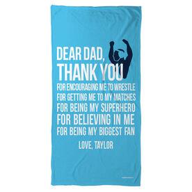 Wrestling Beach Towel Dear Dad