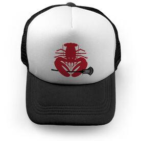 Guys Lacrosse Trucker Hat - LAX Lobster (Guys Stick)