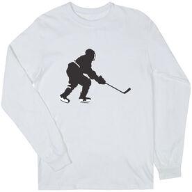 Hockey Tshirt Long Sleeve Hockey Player