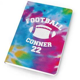 Football Notebook Tie Dye Pattern