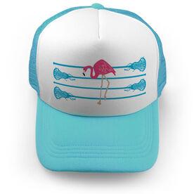 Girls Lacrosse Trucker Hat Lax Flamingo