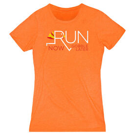 Women's Everyday Runners Tee - Let's Run Now Gobble Later