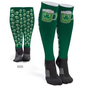 Running Printed Knee-High Socks - Run For Green Beer