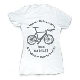 Vintage Triathlon T-Shirt - Warm Up Bike Cool Down 140.6