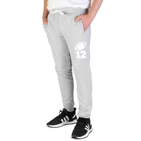 Football Men's Joggers - Football Icon With Number