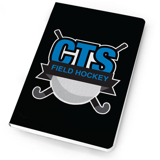 Field Hockey Notebook Custom Team Logo