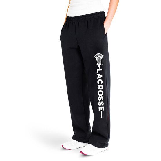 Guys Lacrosse Fleece Sweatpants - Guys Lacrosse Word