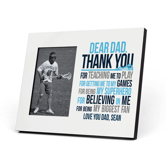Guys Lacrosse Photo Frame - Dear Dad