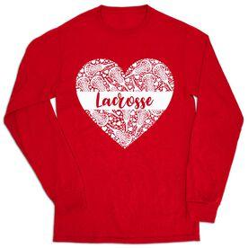 Girls Lacrosse Tshirt Long Sleeve - Lacrosse Heart