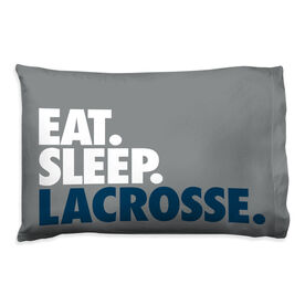 Guys Lacrosse Pillowcase - Eat Sleep Lacrosse