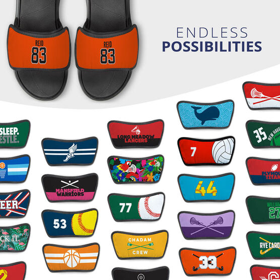 Personalized Repwell® Sandal Straps - Name and Number