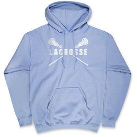 Girls Lacrosse Hooded Sweatshirt - Lacrosse Crossed Girls Sticks