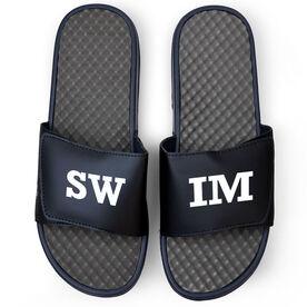 Swimming Navy Slide Sandals - SWIM