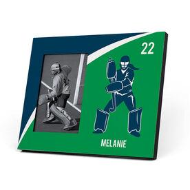 Field Hockey Photo Frame - Personalized Goalie