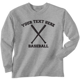 Custom Baseball T-Shirt Long Sleeve