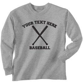 Custom Baseball T-Shirt Long Sleeve