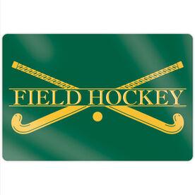 "Field Hockey 18"" X 12"" Aluminum Room Sign - Crest"