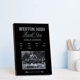Guys Lacrosse Photo Frame - Thank You Coach Roster