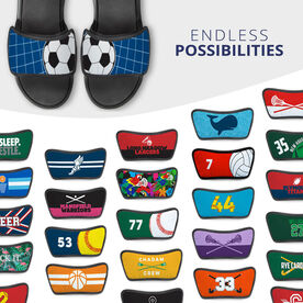 Soccer Repwell® Sandal Straps - Ball Reflected