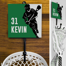 Guys Lacrosse Hook - Personalized Player Silhouette