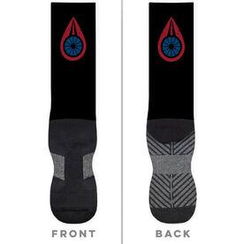 Triathlon Printed Mid-Calf Socks - Your Logo