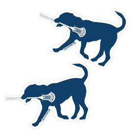 Guys Lacrosse Stickers - Max The Lax Dog (Set of 2)