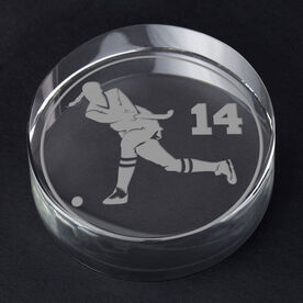 Field Hockey Personalized Engraved Crystal Gift - Personalized Silhouette (Player)