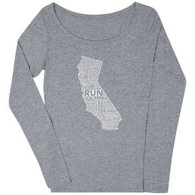 Women's Scoop Neck Long Sleeve Runners Tee California State Runner