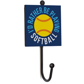 Softball Medal Hook - I'd Rather Be Playing Softball