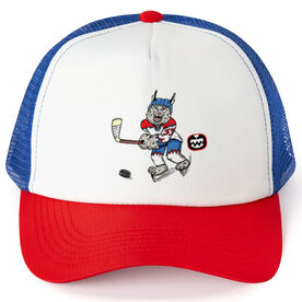 Seams Wild Hockey Trucker Hat - Bobby Ice