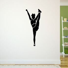 Cheerleader Foot Grab Silhouette Removable ChalkTalkGraphix Wall Decal