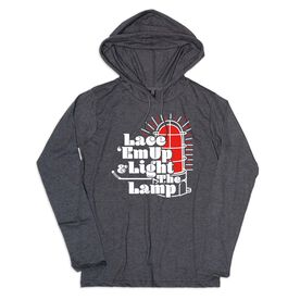 Men's Hockey Lightweight Hoodie - Lace Em Up and Light the Lamp