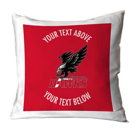 Throw Pillow - Greater Lowell Hawks Hockey Logo