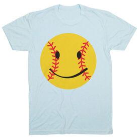 Softball T-Shirt Short Sleeve Smiley