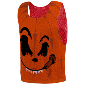 Guys Lacrosse Pinnie - Pumpkin Face
