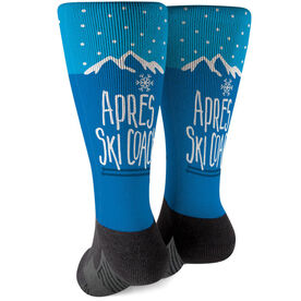 Skiing Printed Mid-Calf Socks - Après Ski Coach