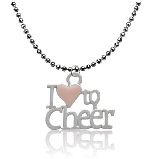 I Love to Cheer Enameled Pendant Necklace