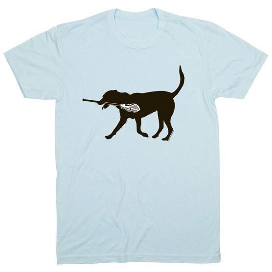 Guys Lacrosse Short Sleeve T-Shirt - Max The Lax Dog